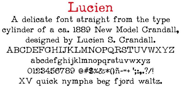 Free Typewriter Fonts: Lucien